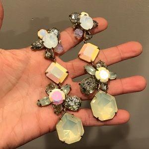 J.Crew opalescent chandelier earrings